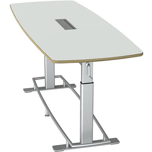 Focal Upright Furniture Confluence Table 8 (Glacier White/ Laminate)