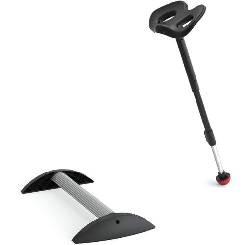 Focal Upright Furniture Mogo Upright Seat & Stabilizing Foot Rest Kit (Black Cushion)