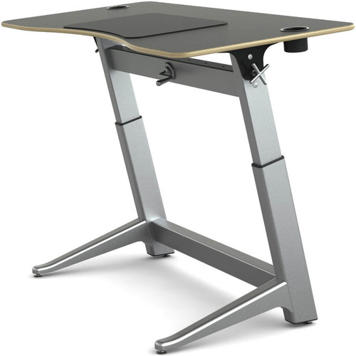 "Focal Upright Furniture Locus Standing Desk with Matte Black Laminate Top (30 x 60"")"