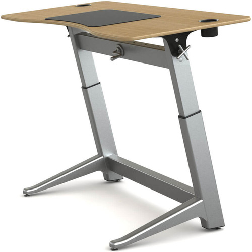 "Focal Upright Furniture Locus Standing Desk with White Oak Veneer Top (30 x 60"")"