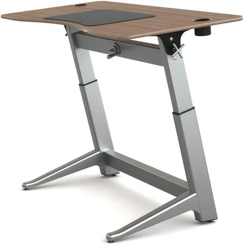 """Focal Upright Furniture Locus Standing Desk with Black Walnut Veneer Top (30 x 60"""")"""