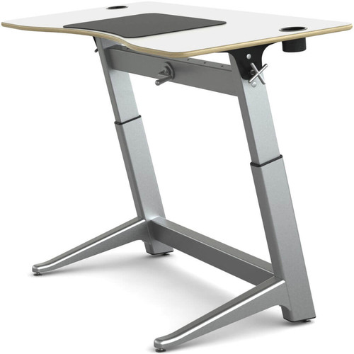 "Focal Upright Furniture Locus Standing Desk with Glacier White Laminate Top (30 x 60"")"