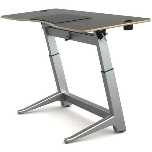 "Focal Upright Furniture Locus Standing Desk with Matte Black Laminate Top (30 x 72"")"