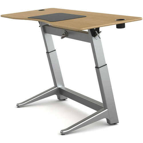 "Focal Upright Furniture Locus Standing Desk with White Oak Veneer Top (30 x 72"")"