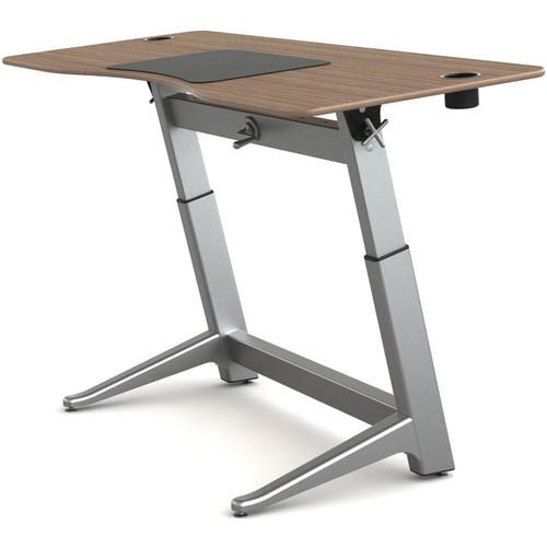 """Focal Upright Furniture Locus Standing Desk with Black Walnut Veneer Top (30 x 72"""")"""
