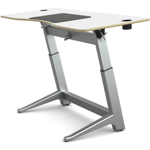 "Focal Upright Furniture Locus Standing Desk with Glacier White Laminate Top (30 x 72"")"