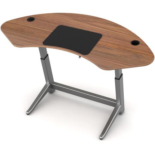 Focal Upright Furniture Sphere Standing Desk (Black Walnut Top)