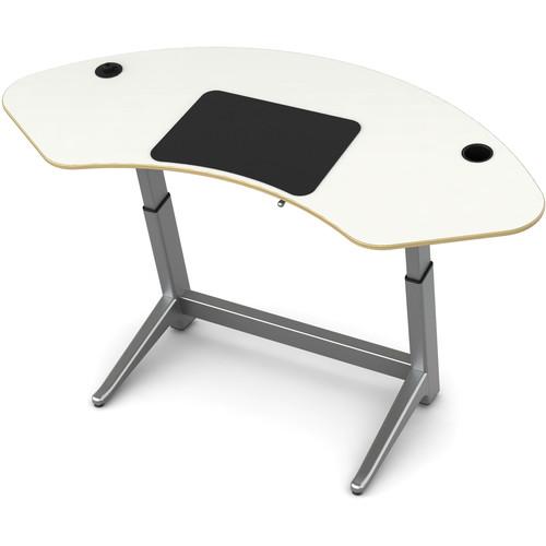 Focal Upright Furniture Sphere Standing Desk (Glacier White Top)