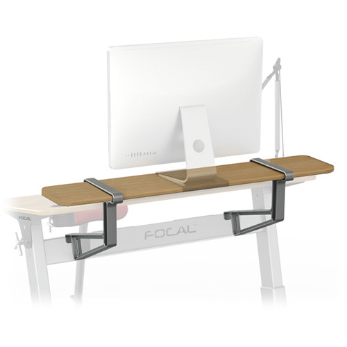 "Focal Upright Furniture Locus Shelf (48 x 10"", Black Walnut Veneer)"