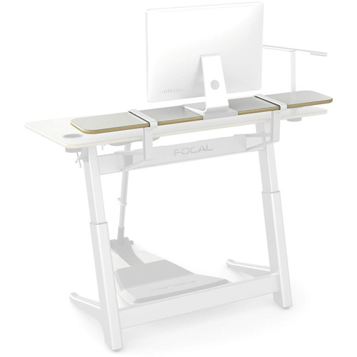 "Focal Upright Furniture Locus Shelf (56 x 10"", Glacier White Laminate)"