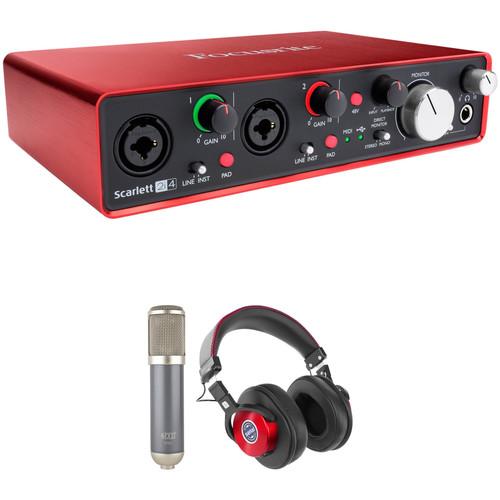 Focusrite Scarlett 2i4 Audio Interface Super Bundle