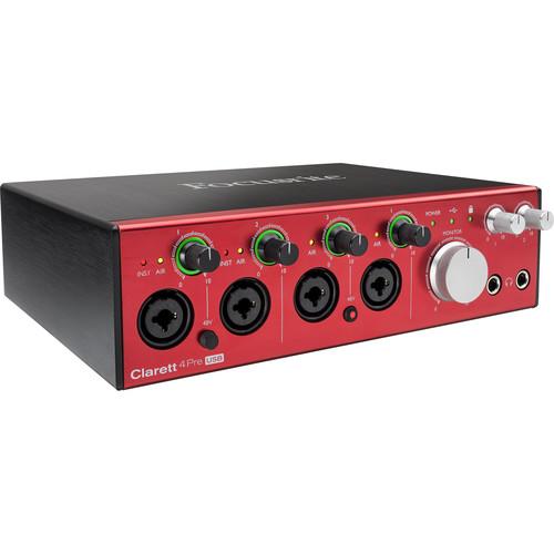 Focusrite Clarett 4Pre USB 18x6 USB Audio Interface