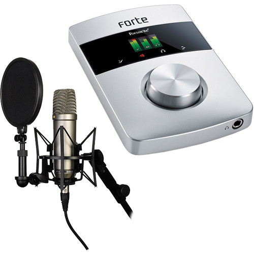 Focusrite Forte USB Audio Interface and NT1-A Large Diaphragm Condenser Microphone Kit