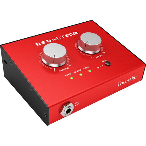 Focusrite RedNet AM2 Stereo Dante Headphone Amplifier and Line-Out Interface
