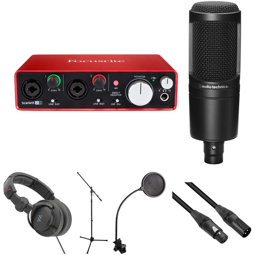 Focusrite Scarlett 2i2 USB Interface and Recording Accessories Kit