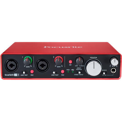 Focusrite Scarlett 2i4 USB Audio Interface (2nd Generation)