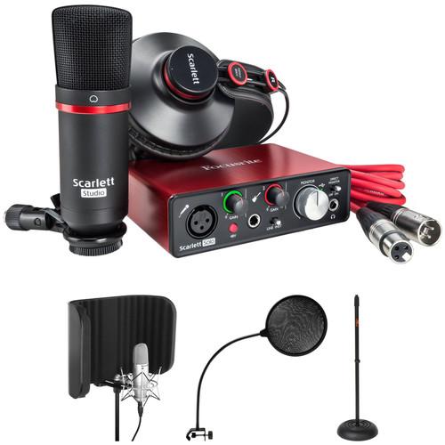 Focusrite Scarlett Solo Personal Studio Vocal Recording and Isolation Kit