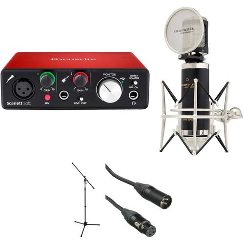 Focusrite Scarlett Solo Personal Studio Vocal Recording Kit