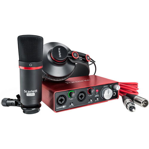 Focusrite Scarlett Studio 2i2 - Complete Recording Package for Musicians (2nd Generation)