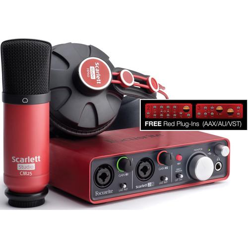 Focusrite Scarlett Studio - Complete Professional Recording Package for Musicians