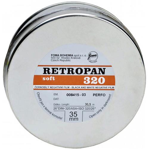 Foma RETROPAN 320 soft Black and White Negative Film (35mm Roll Film, 100' Roll)