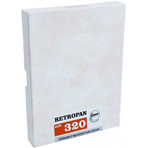 "Foma RETROPAN 320 soft Black and White Negative Film (5 x 7"", 50 Sheets)"