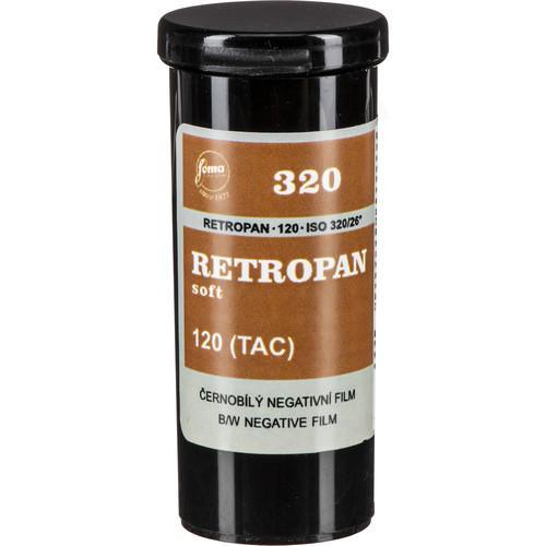 Foma RETROPAN 320 soft Black and White Negative Film (120 Roll Film)
