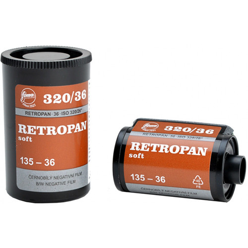 Foma RETROPAN 320 soft Black and White Negative Film (35mm Roll Film, 36 Exposures)