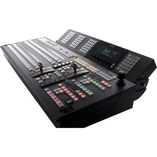 For.A HVS-4000HSA 3M/E Digital Video Switcher with HVS-3244OU 32-Button Control Panel