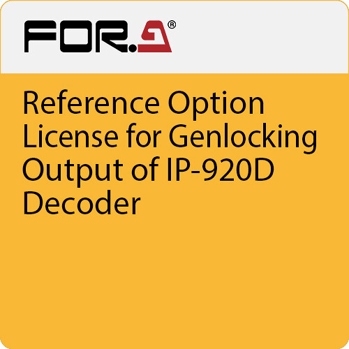For.A Reference Option License for Genlocking Output of IP-920D Decoder