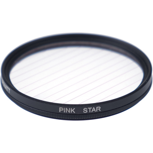 Formatt Hitech Fireburst Circular 72mm 2-Point Star Filter (Neon Pink)