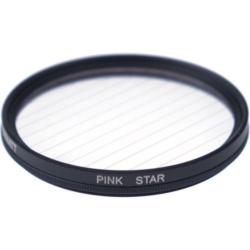 Formatt Hitech Fireburst Circular 77mm 4-Point Star Filter (Neon Pink)