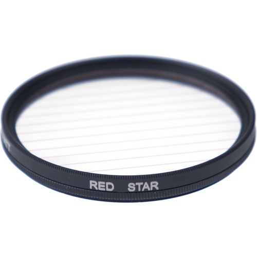 Formatt Hitech Fireburst Circular 82mm 4-Point Star Filter (Flame)