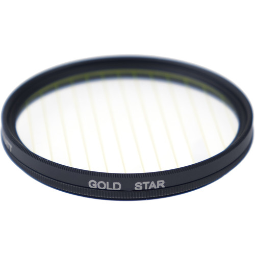 Formatt Hitech Fireburst Circular 82mm 2-Point Star Filter (Gold)