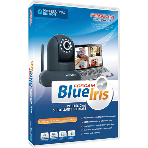 Foscam Blue Iris Professional Surveillance Software for Windows (CD-ROM)
