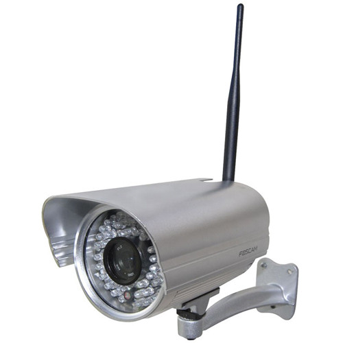 Foscam FI8906W Weatherproof Outdoor Fixed Wireless Day/Night IP Camera with IR LEDs (Silver)