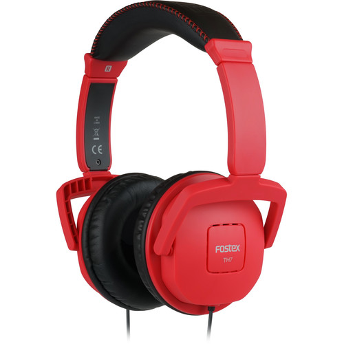 Fostex TH7 Closed-Back Dynamic Stereo Headphones (Red)