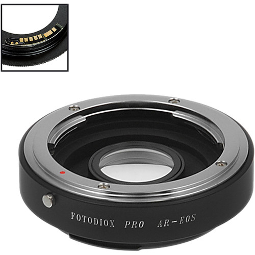 FotodioX Pro Lens Mount Adapter with Generation v10 Focus Confirmation Chip for Konica Auto-ReflexMount Lens to Canon EF or EF-S Mount Camera