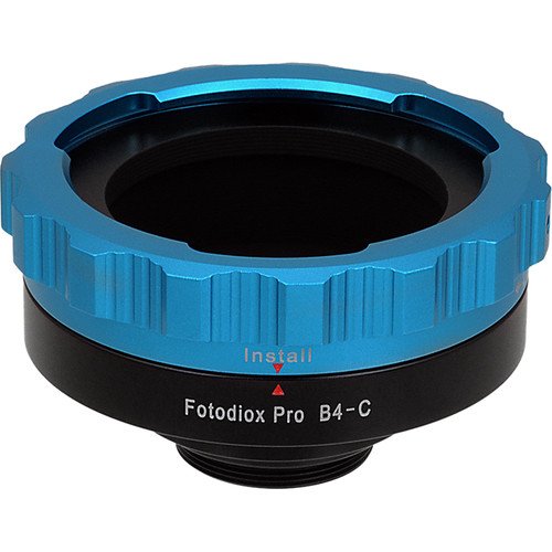 FotodioX Pro Lens Mount Adapter for B4 ENG to C-Mount for Cine & CCTV Camera Bodies
