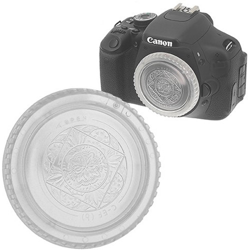 FotodioX Designer Body Cap for Canon EOS EF & EF-S Cameras (Clear)