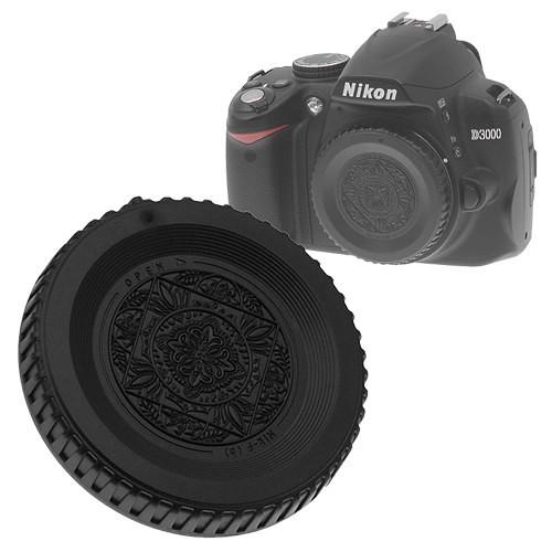 FotodioX Designer Body Cap for Nikon F SLR/DSLR Cameras (Black)