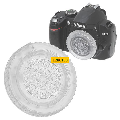 FotodioX Designer Body Cap for Nikon F SLR/DSLR Cameras (Clear)