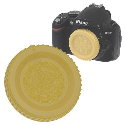 FotodioX Designer Body Cap for Nikon F SLR/DSLR Cameras (Gold)