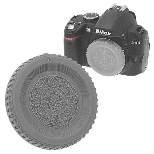FotodioX Designer Body Cap for Nikon F Mount Cameras (Gray)