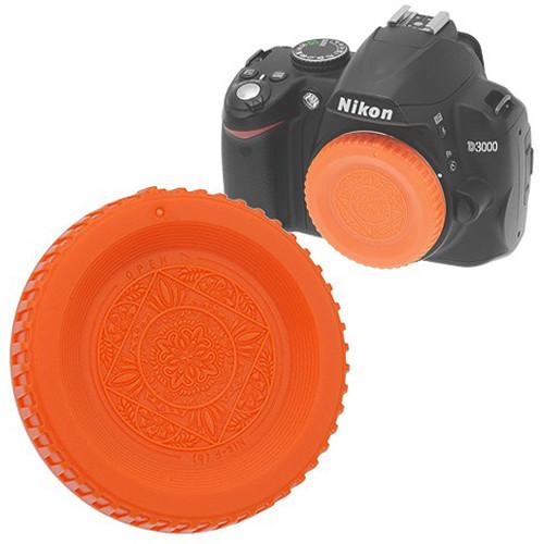 FotodioX Designer Body Cap for Nikon F Mount Cameras (Orange)