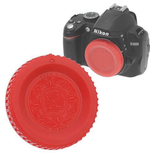 FotodioX Designer Body Cap for Nikon F Mount Cameras (Red)