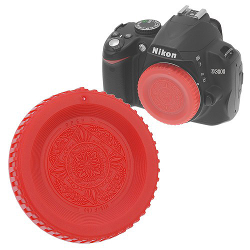 FotodioX Designer Body Cap for Nikon F SLR/DSLR Cameras (Red)