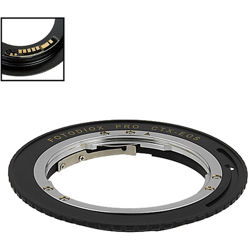 FotodioX Pro Lens Mount Adapter with Generation v10 Focus Confirmation Chip for Contax-YashicaMount Lens to Canon EF or EF-S Mount Camera
