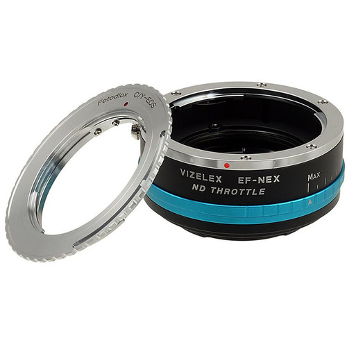FotodioX Contax/Yashica Lens to Sony E-Mount Camera Vizelex ND Throttle Adapter