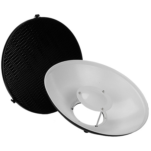 """FotodioX Pro Beauty Dish Kit with 50-Degree Honeycomb Grid Comet Flash Heads (16"""")"""